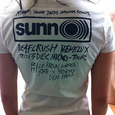 SUNN O))) Benelux December 2013 tshirt