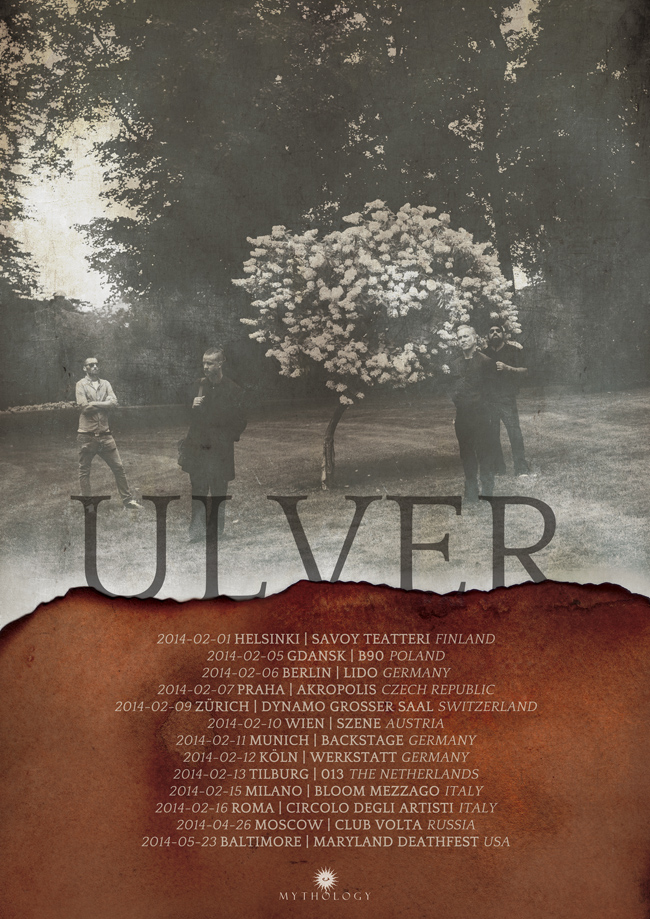 ULVER February/April/May 2014 tour poster