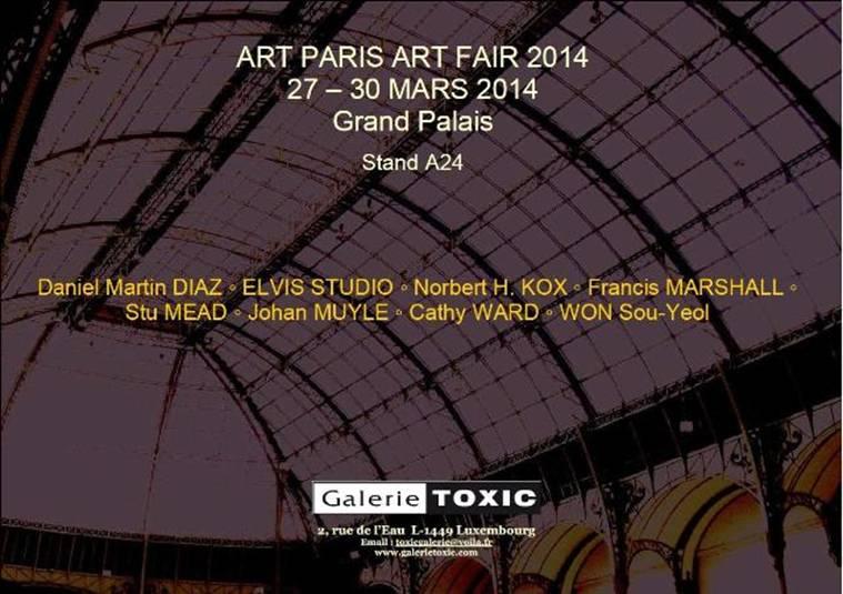 (Cathy WARD art!) La Galerie Toxic a le plaisir de vous inviter à Art Paris Art Fair 2014