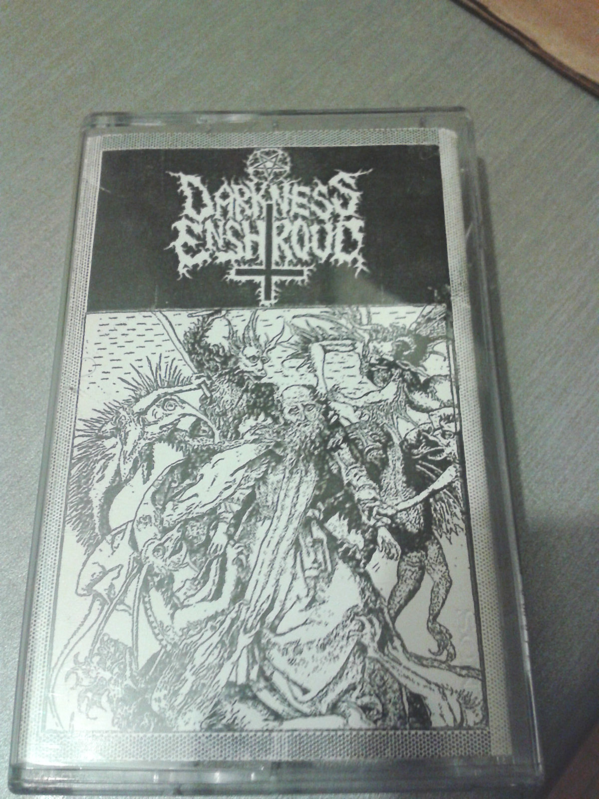 DARKNESS ENSHROUD demo tape, courtesy of Oliver Mitchell