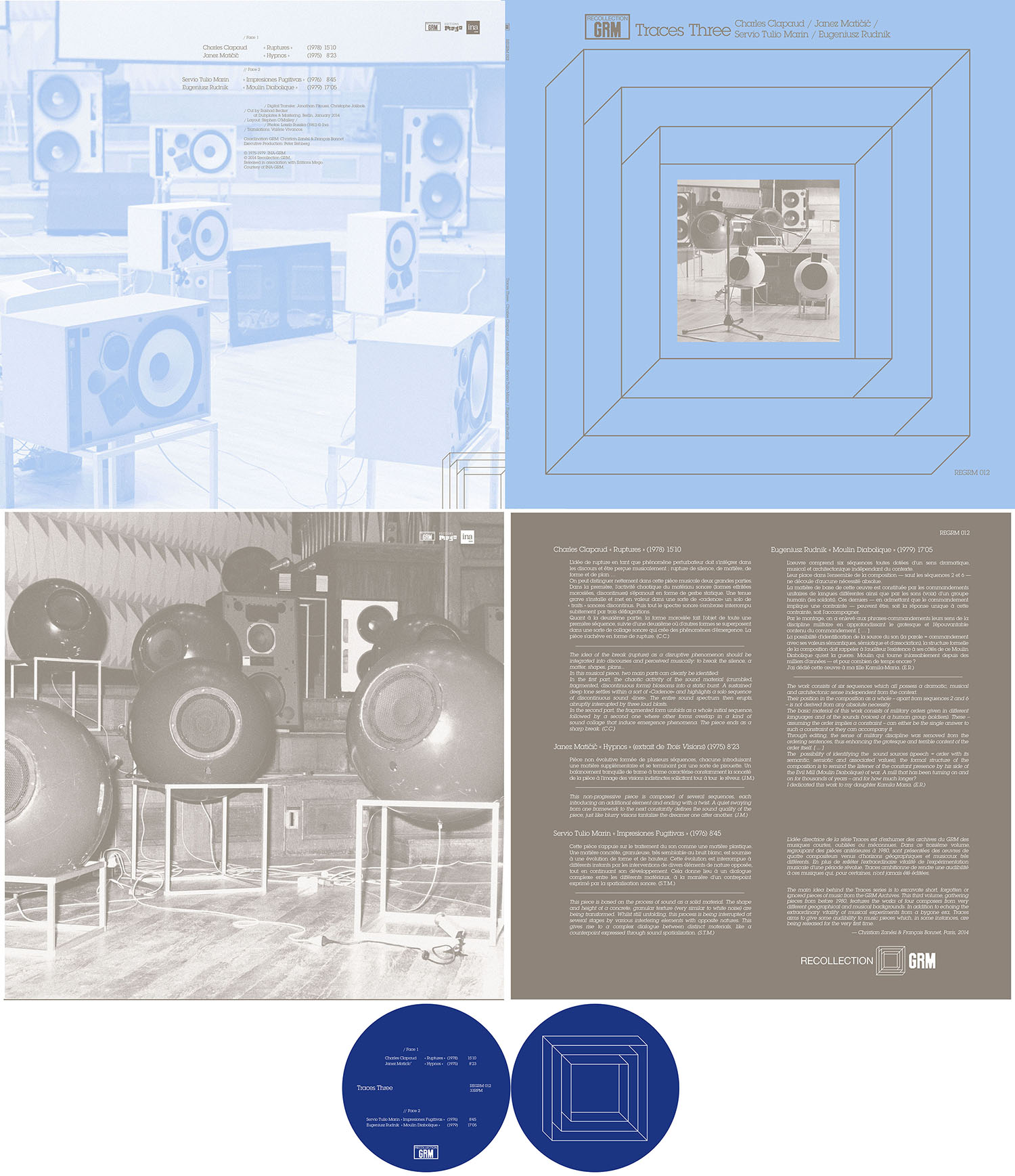 REGRM 012 TRACES THREE LP design