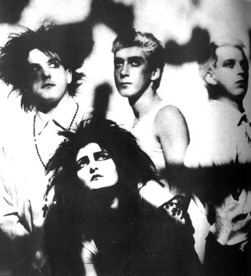 Siouxsie & the Banshees while Robert Smith was in the band Photo by Anton Corbijn 1984