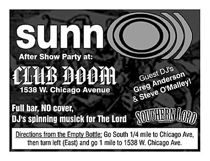 SUNN O))) vs WIRE after party