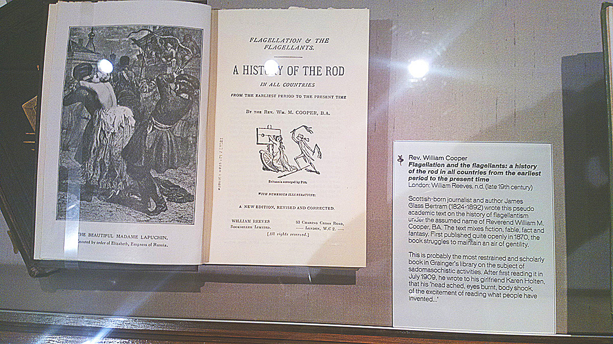 Grainger Museum, Melbourne flagellation section