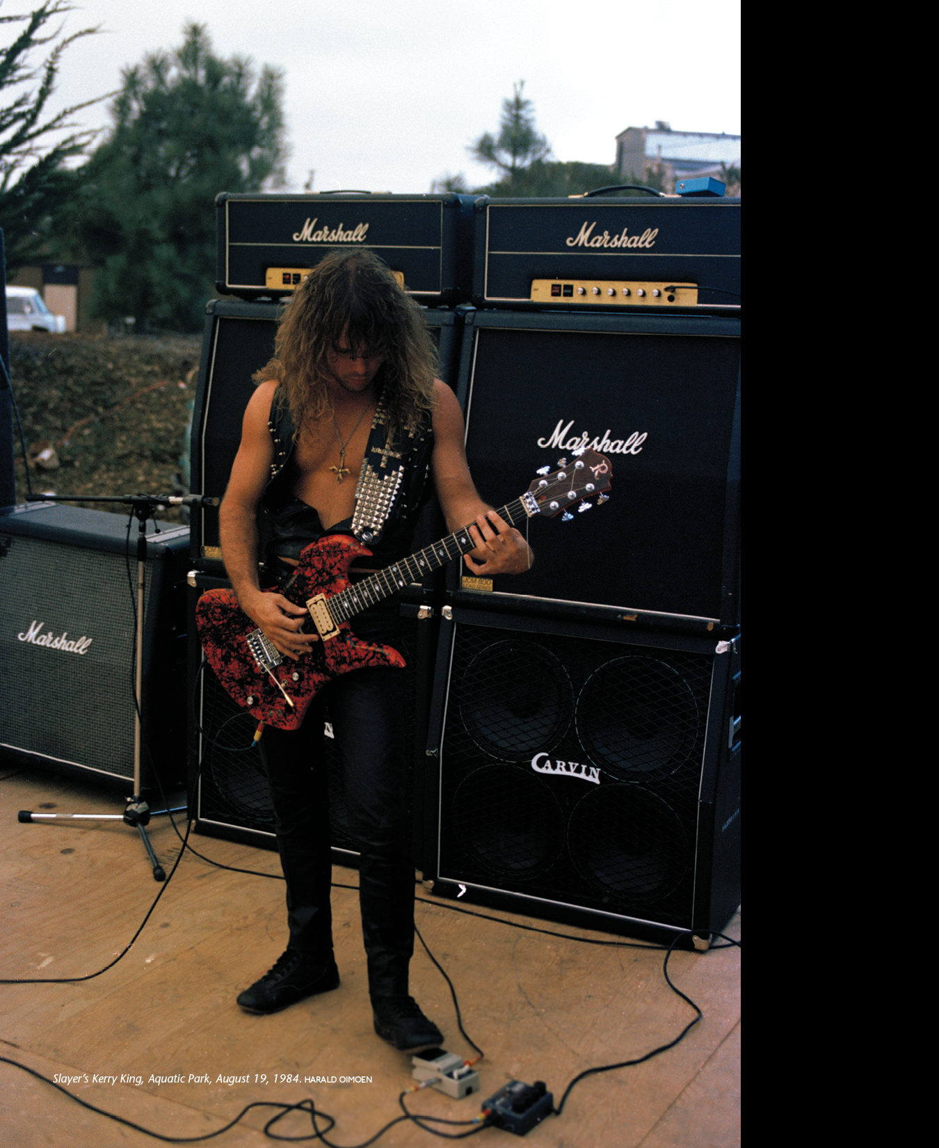 SLAYER's JMPs, where are they now? p. 130 from MURDER IN THE FRONT ROW, pic: Harald Oimoen, 08/19/1984