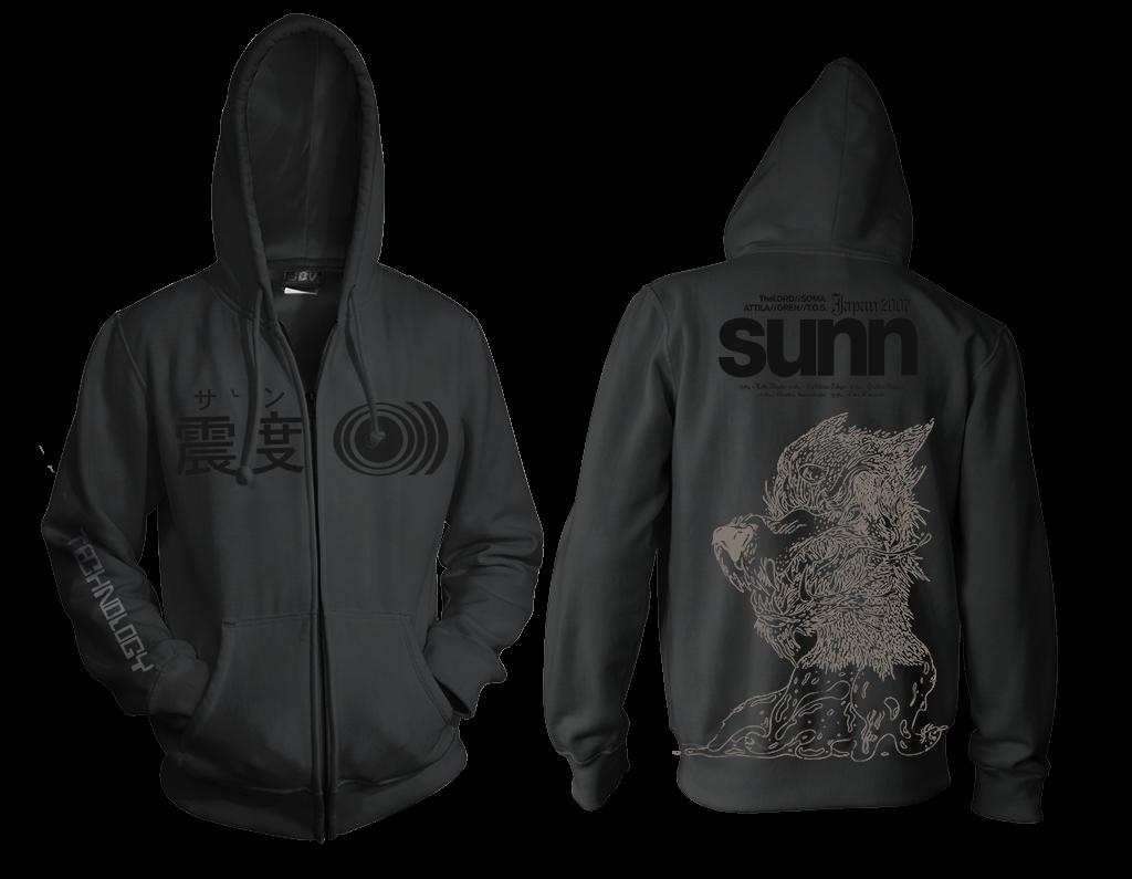 SUNN O))) SAVX JAPAN 2007 tour shirt/hoodie
