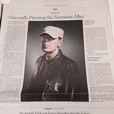 "Scott Walker + SUNN O))) ""Soused"" article in today's New York Times by Ben Ratcliff"