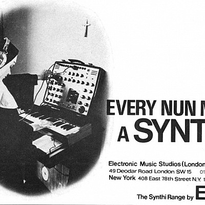 Vintage synth adverts