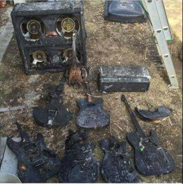 guitars and amps from the Famous Great White Fire Show - $2500 (dallas)