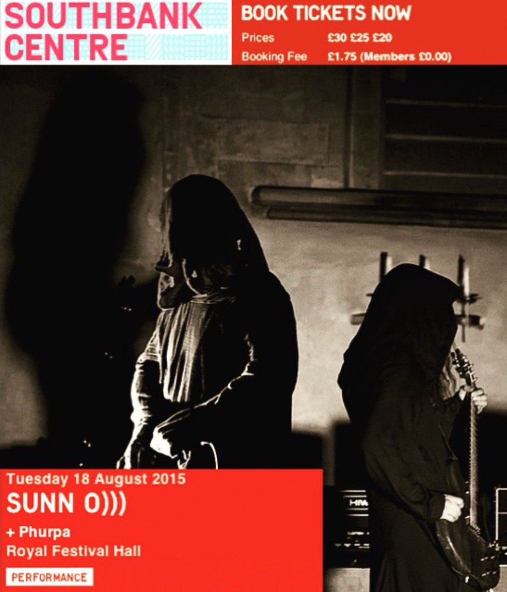 SUNN O))) + PHURPA at David Byrne's MELTDOWN 18 August