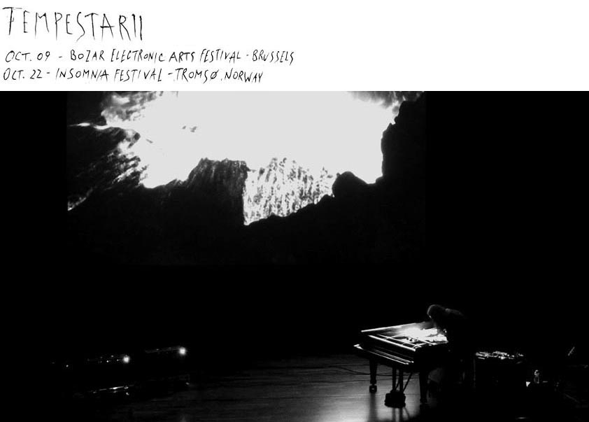 """Gast Bouschet & Nadine Hilbert """"Tempestarii"""" (live music SOMA) in October"""