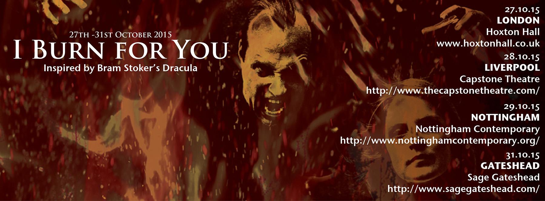 "Attila Csihar in Ian Wilson's play ""I BURN FOR YOU"" Oct 2015 UK tour"