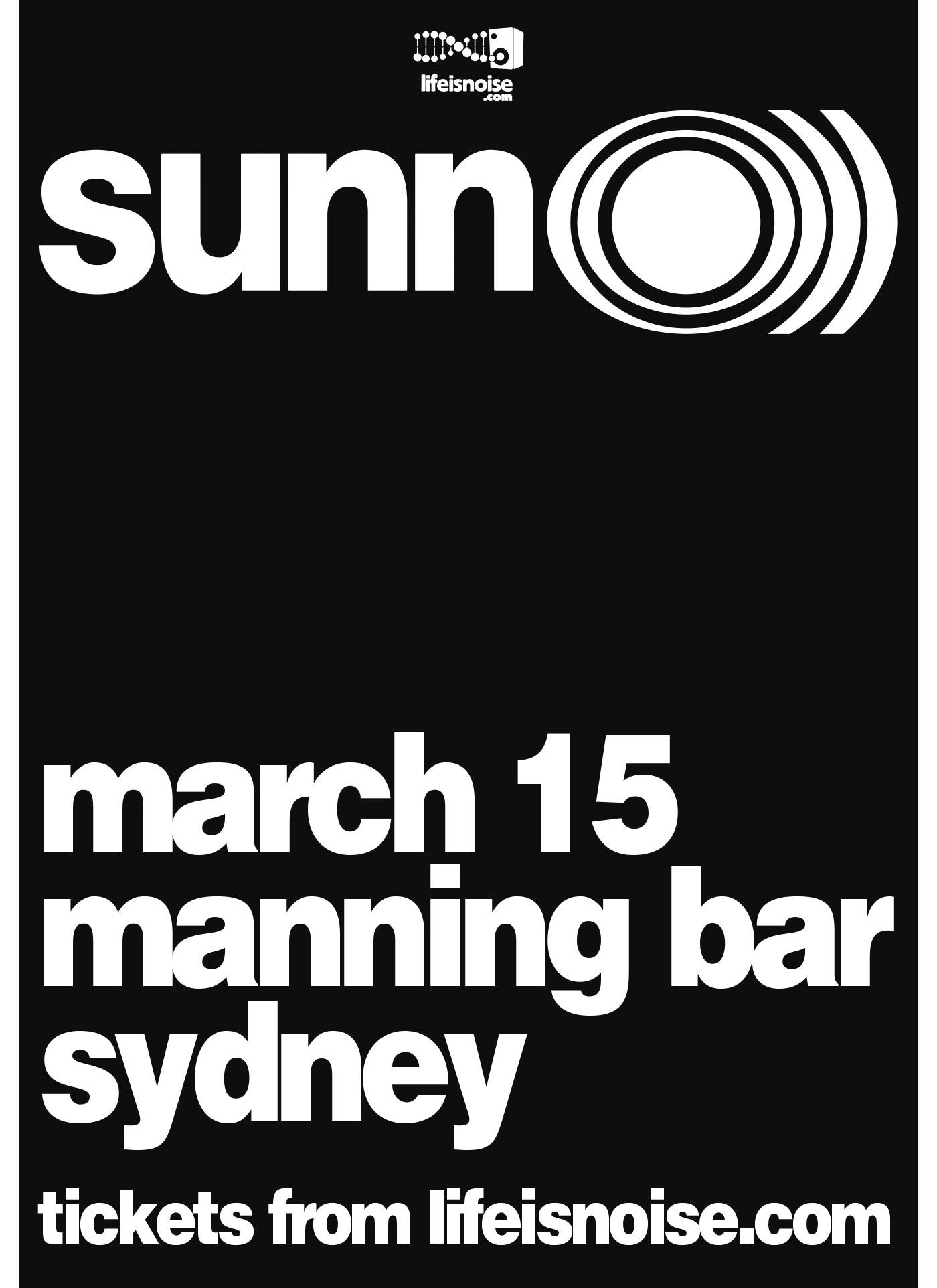 SUNN O))) Australia tour 2016