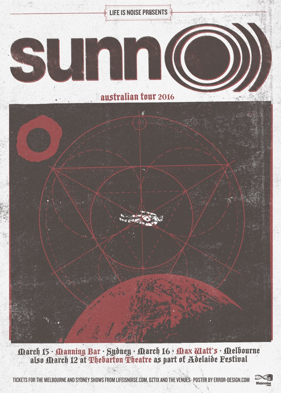 SUNN O))) Australia 2016 Tour poster