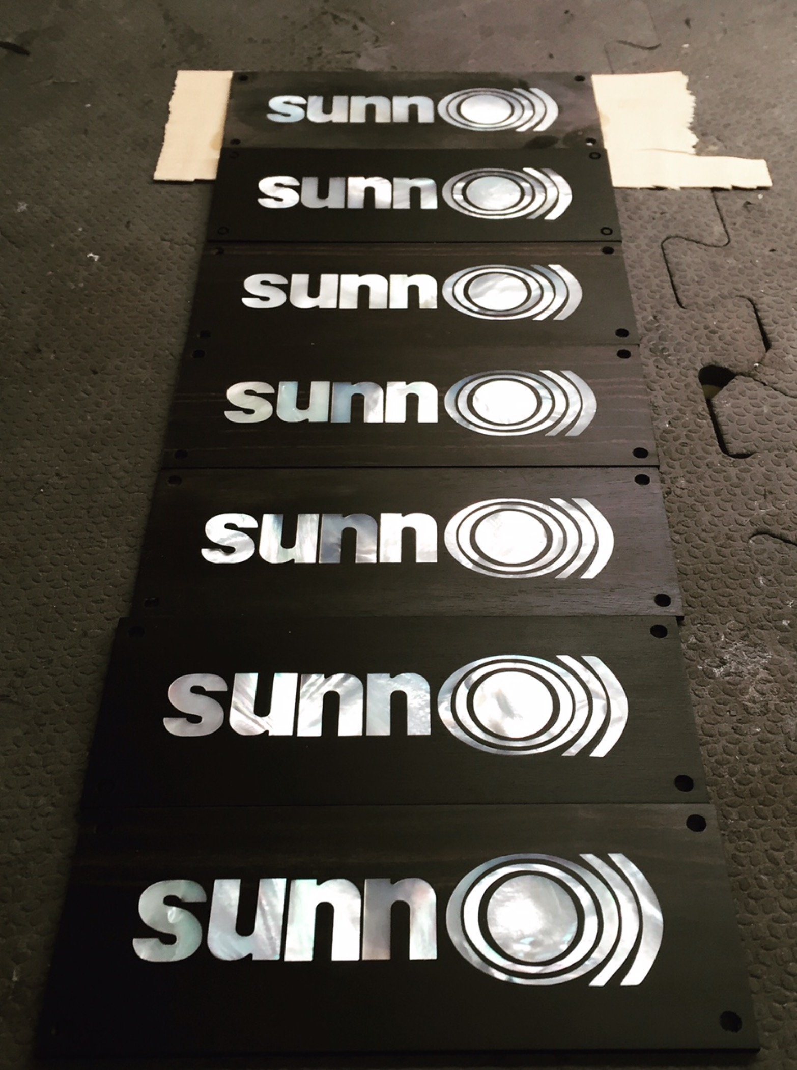 SUNN O))) mother of pearl nameplates