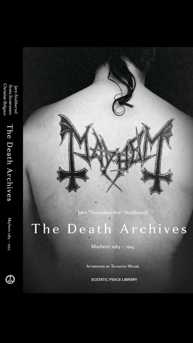 """""""The Death Archives: Mayhem 1984-94"""" by Jørn NECROBUTCHER Stubberud"""