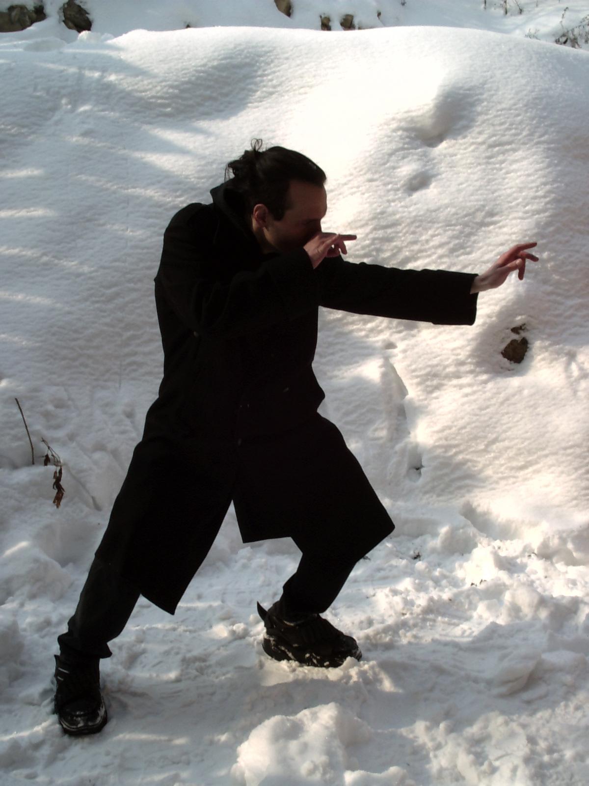 "Attila Csihar original photo shoot for SUNN O))) ""White2"" album, 2003"