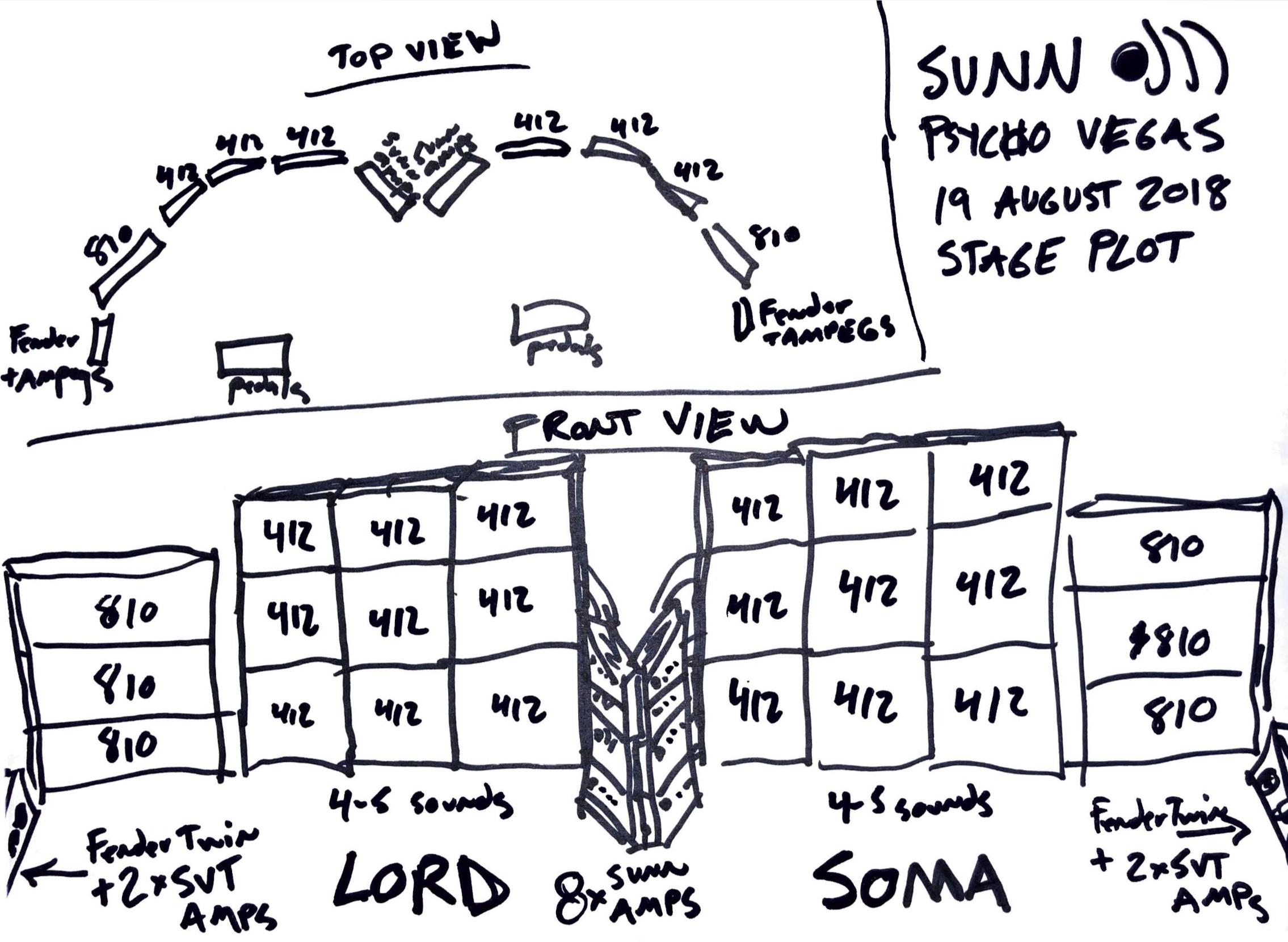 SUNN O))) Psycho Vegas stage plot 0818